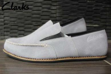 BC0402 Gray Clarks Slip On Venice Suede Mercy - Rp. 220000
