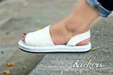 BK0143 White Kickers Women Kulit - Rp. 160000