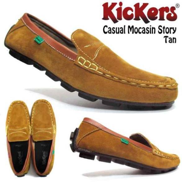 BK0348 Tan Kickers Casual Mocasin Story - Rp. 180000