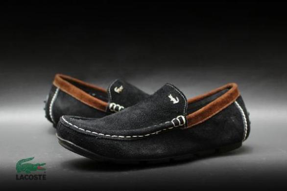 BL0306 Black Lacoste Cevany Slop Suede - Rp. 180000