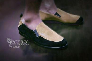 BO0362 Black Tan Ocean Slip On Duos Authentic - Rp. 180000