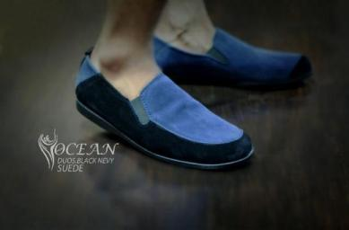 BO0363 Black Blue Ocean Slip On Duos Authentic - Rp. 180000