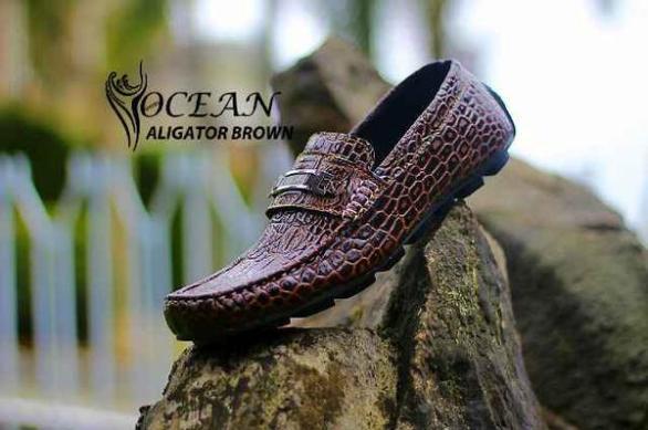 BO0365 Brown Ocean Slip On Alligator - Rp. 190000