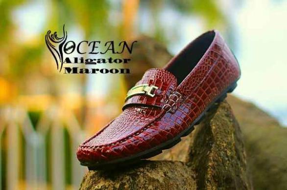 BO0366 Maroon Ocean Slip On Alligator - Rp. 190000