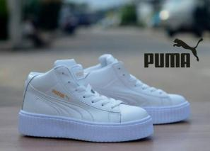 BP0224 Full White Puma Rihanna High - Rp. 360000