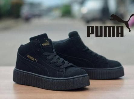 BP0225 Full Black Puma Rihanna High - Rp. 360000