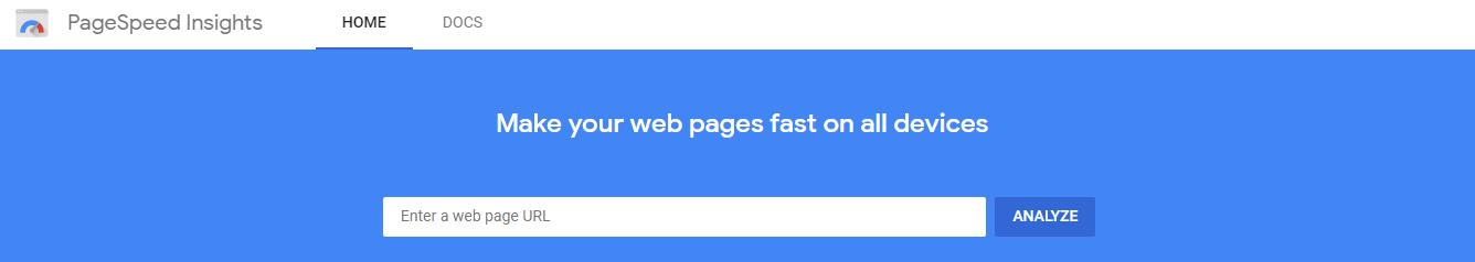 Google speed checker