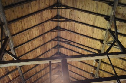 The barn ceiling