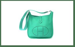 充滿魅力的薄荷綠,二手愛馬仕HERMES VEAU EPSOM EVELYNE TPM。