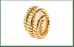 二手寶格麗 BVLGARI SERPENTI TUBOGAS K18黃金戒指