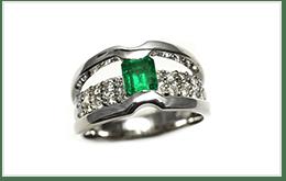 3連串祖母綠戒指