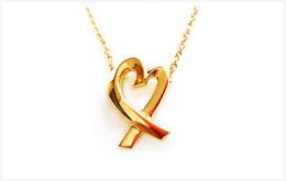 二手 LOVING HEART K18 黃金 項鍊