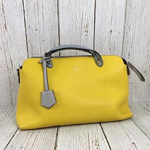二手 FENDI 芬迪 BY THE WAY 經典款 灰黃 雙色 手提包