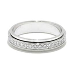 二手 PIAGET 伯爵 K18 白金 鑽石 戒指