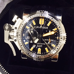 GRAHAM的CHRONOFIGHTER OVERSIZE DIVER/DATE ORANGE SEAL 20VES.B02B.K10B