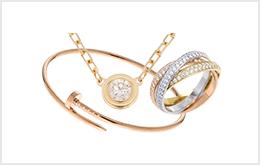 二手CARTIER 卡地亞戒指・項鍊・耳環收購
