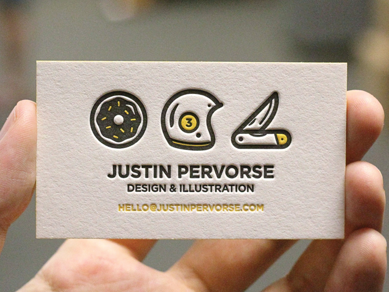 Bidness Cards by Justin Pervorse