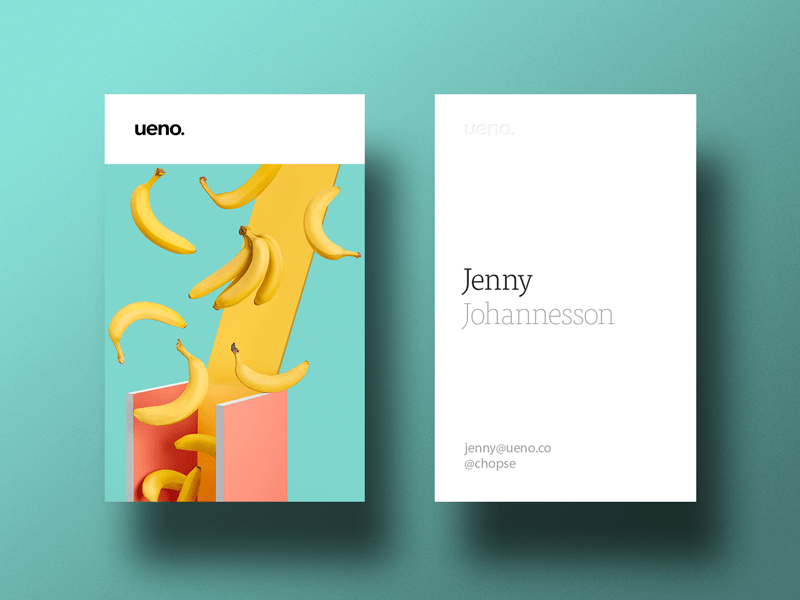 Ueno Rebrand : Business cards #3 by ueno.