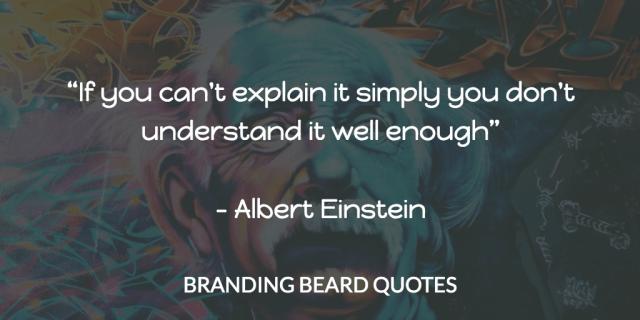 Einstein Quote - Simplicity