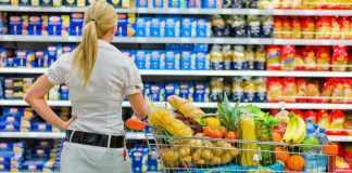 Lady in supermarket