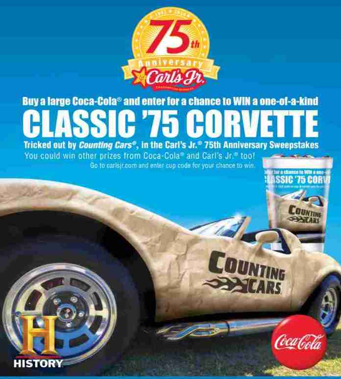 Carl's Jr. 75th Anniversary Sweepstakes.