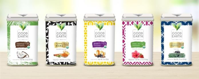 The new premium line-up of loose-leaf teas by Good Earth.