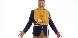 David Walliam British Airways Inflight safety video sequel with comic relief