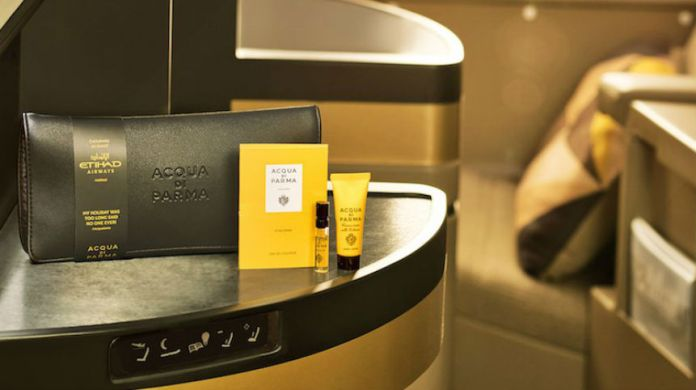 etihad airways acqua di parma partnership