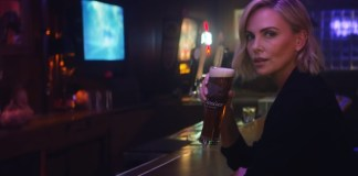 budweiser charlize theron
