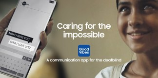 Samsung Good Vibes to aid deafblind and vision impaired