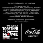 Coca-Cola supports 'One World: Together At Home' global special