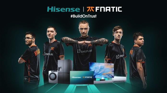 Hisense announces global partnership with Fnatic Esports Organisation