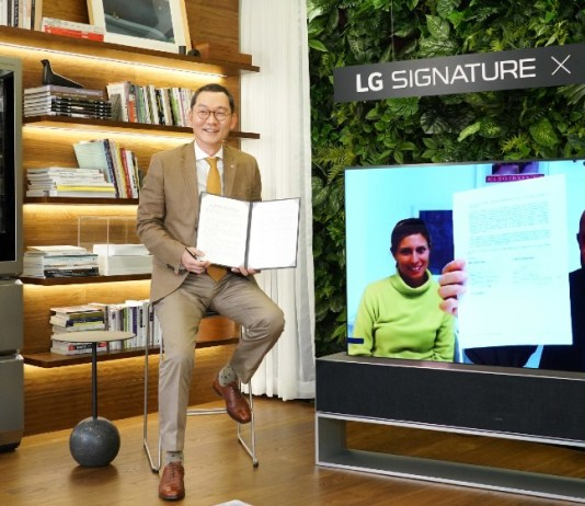 LG Signature partners with luxury Italian lifestyle brand Molteni&C