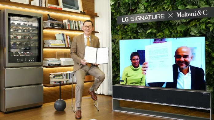 LG Signature works with the Italian luxury lifestyle brand Molteni & C