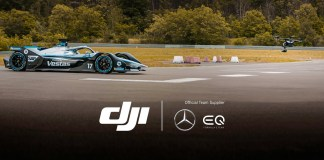 DJI and Mercedes-Benz EQ Formula E Team have lift-off