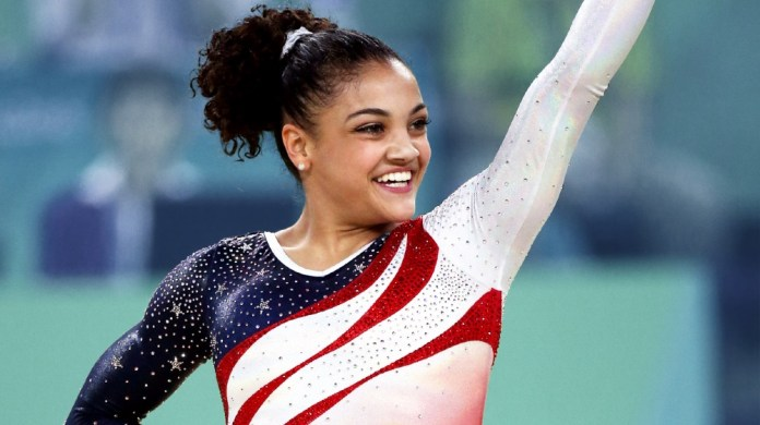 Always teams up with Olympic Gymnast to support girls in sports