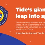 Tide partners with NASA to design first laundry detergent for space
