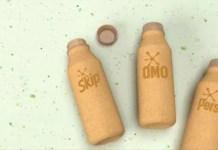 Unilever reveals world-first paper-based laundry detergent bottle