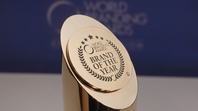 World Branding Awards trophy, Animalis edition. 2021 brand event.