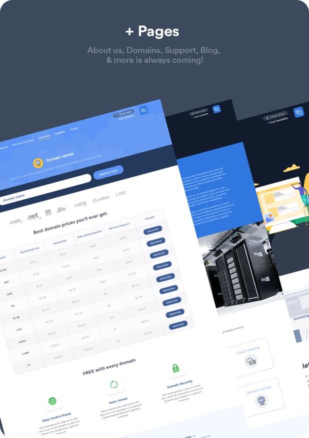 Hustbee - Hosting HTML & WHMCS Template - 6