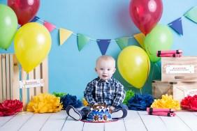 Brandi Teuscher Photography Burley Idaho Cake Smash Children Studio Photographer