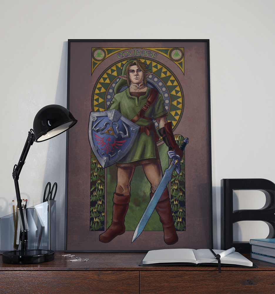 Legend of Zelda – Courage – Print