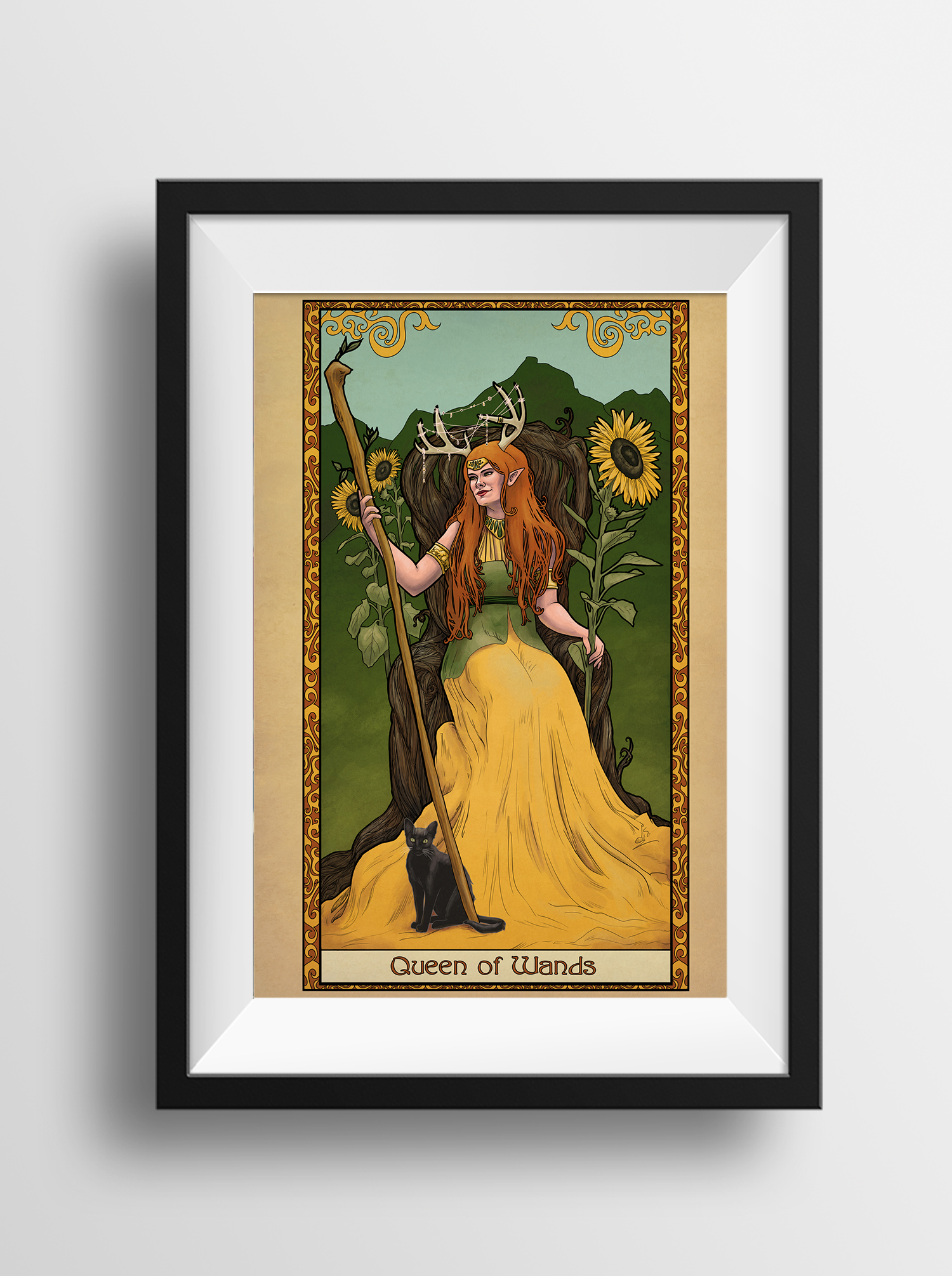 Tabletop Tarot – Queen of Wands- Print