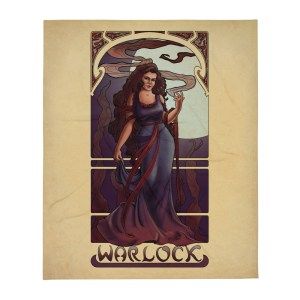 "La Démoniste – The Warlock 50""x60"" Throw Blanket"