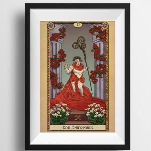 Tabletop Tarot – 5 The Hierophant- Print