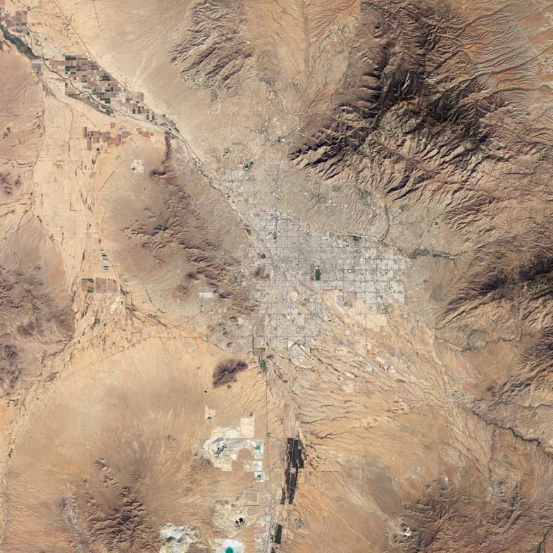 Tucson aus der Luft