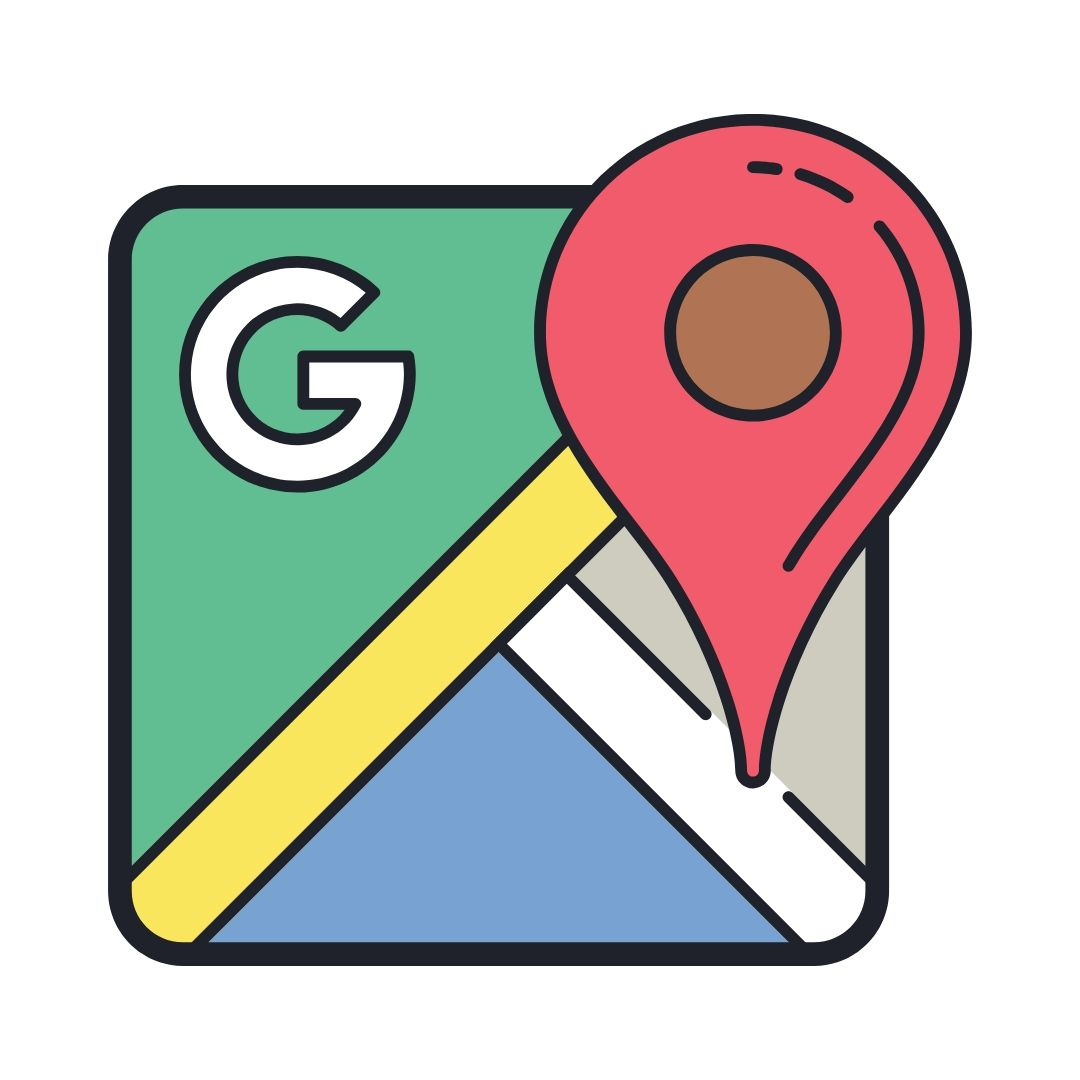 Google Local Search Icon Sketch