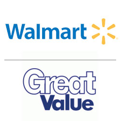 Walmart logo, Great Value logo