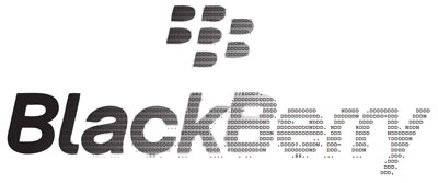 Blackberry logo to ASCII art