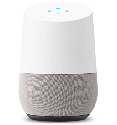 Google Home with interaction dots actie